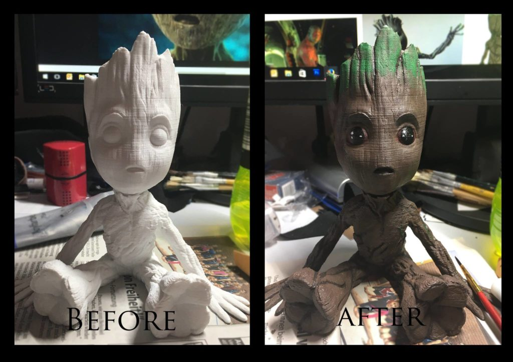 3D gedruckter Groot aus Guardians of the Galaxy - Foto: Shadow Cosplay