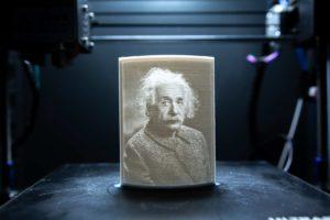 Litohphane mit Janbex PLA - Albert Einstein