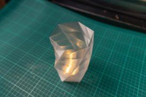 Vase Transparent PLA mit Teelicht drin